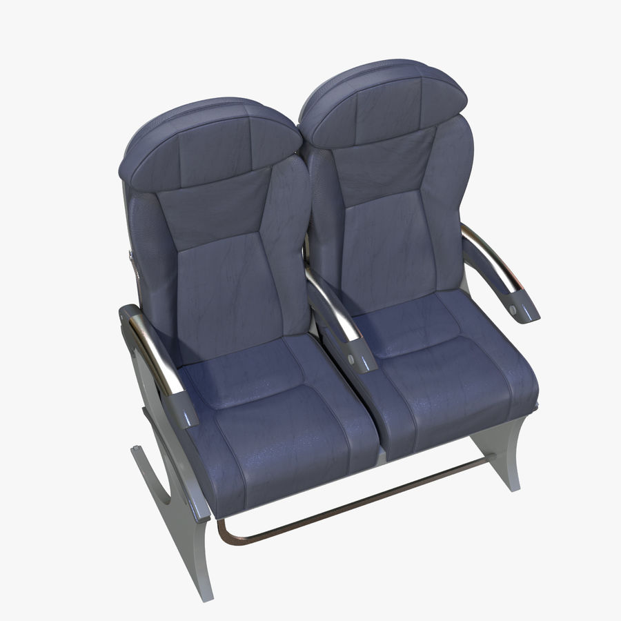 Airplane Seat Business royalty-free 3d model - Preview no. 13