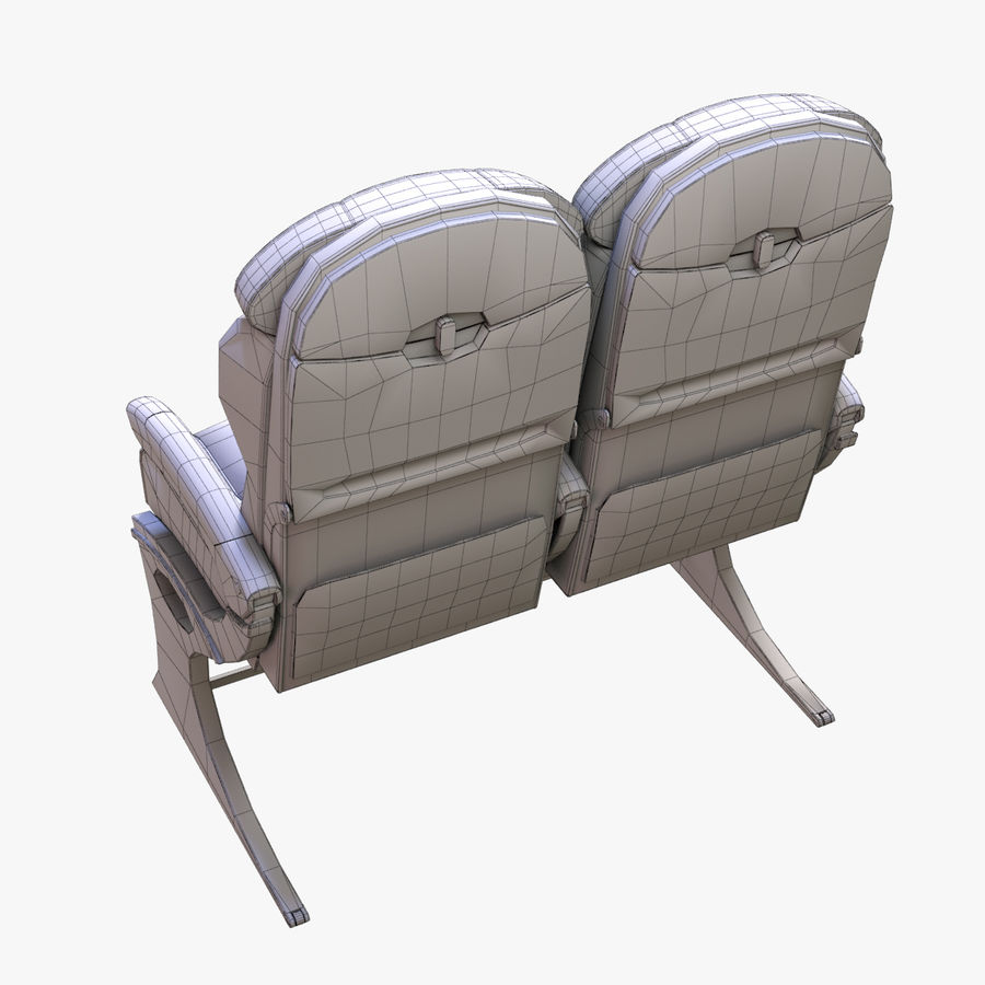 Airplane Seat Business royalty-free 3d model - Preview no. 17