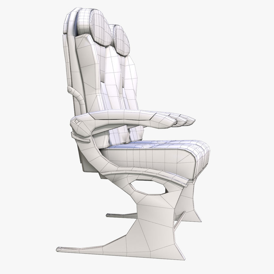 Airplane Seat Business royalty-free 3d model - Preview no. 11