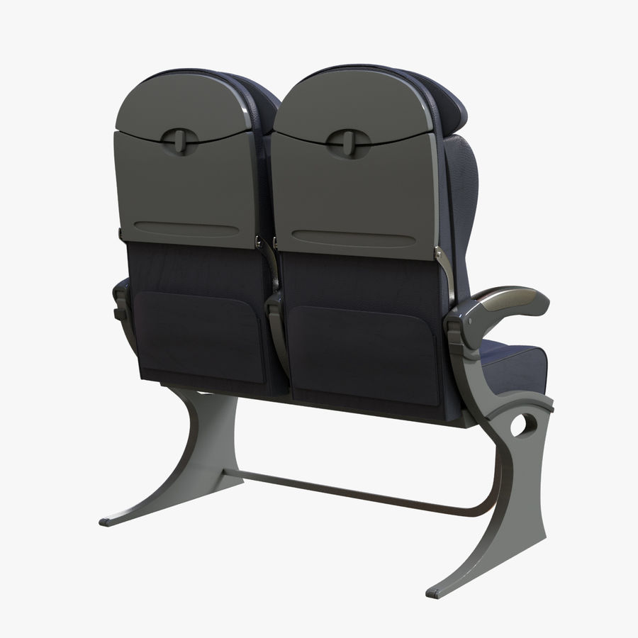 Airplane Seat Business royalty-free 3d model - Preview no. 4