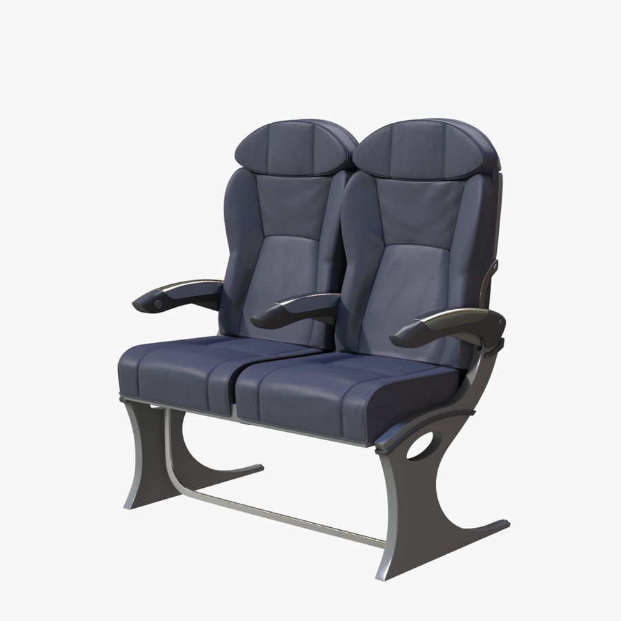 Airplane Seat Business royalty-free 3d model - Preview no. 1