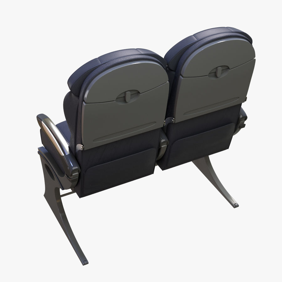 Airplane Seat Business royalty-free 3d model - Preview no. 16