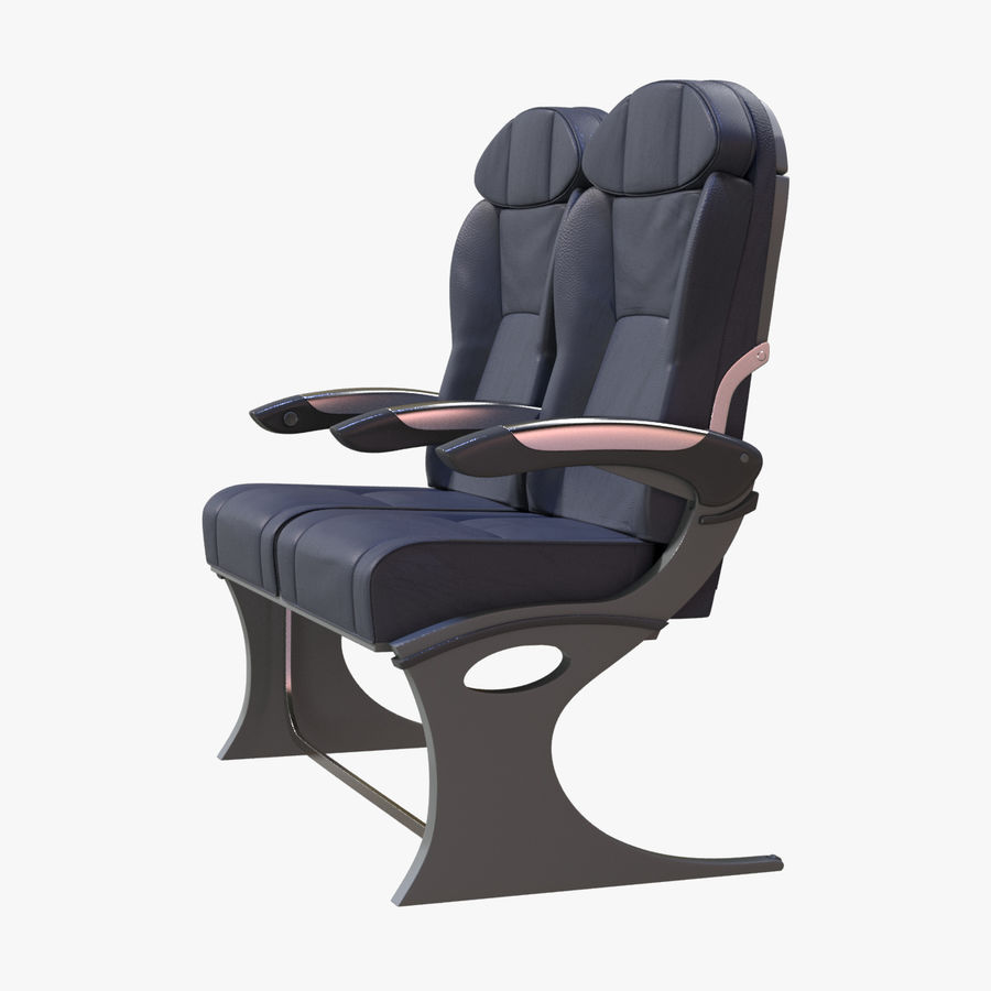 Airplane Seat Business royalty-free 3d model - Preview no. 7
