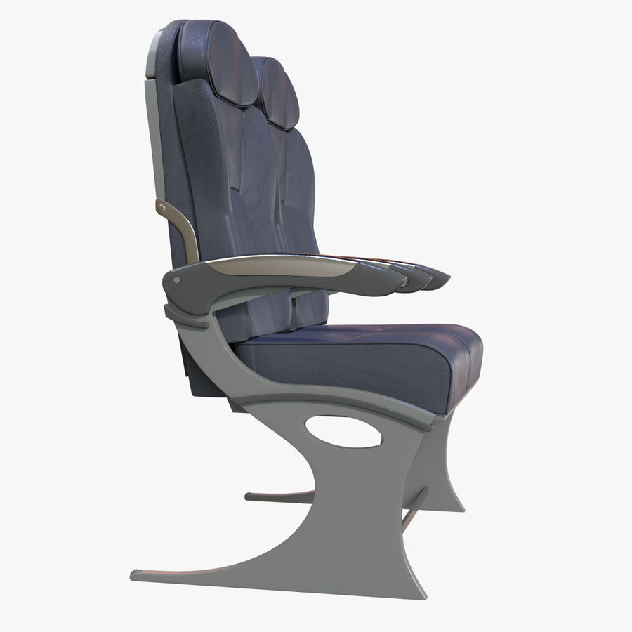 Airplane Seat Business royalty-free 3d model - Preview no. 10