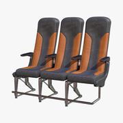 비행기 좌석 이코노미 3d model