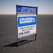 Coldwell Banker Недвижимость Знак 3d model