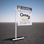 Signe de triage immobilier 3d model