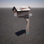 木製メールボックス 3d model
