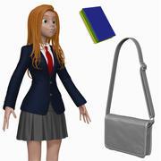 Cartoon Teenage Student H1O1 Sculpt 3d model
