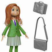 Cartoon Girl Student H1O1 Sculpt 3d model