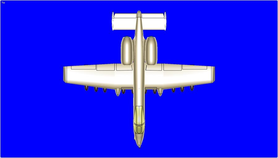 A-10A Warthog Aircraft Solid Assembly Model royalty-free 3d model - Preview no. 5