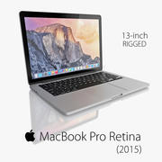 MacBook Pro Retina 2015 3d model