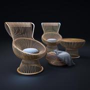 Cadeiras Franco-Albini-Margherita 3d model