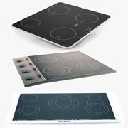 Индукционная плита Установлен 3d model