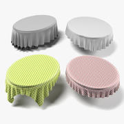 Tableclothes Oval 3d model