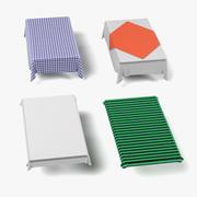 Tableclothes Rectangulars 3d model