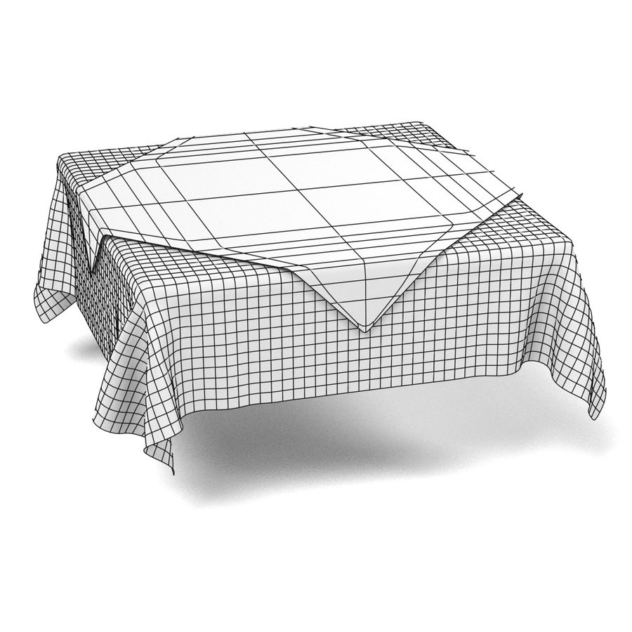 Tableclothes (Square) Set royalty-free 3d model - Preview no. 9
