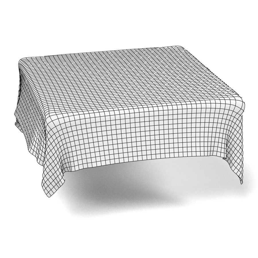 Tableclothes (Square) Set royalty-free 3d model - Preview no. 5