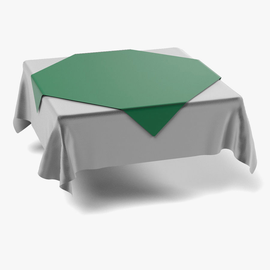 Tableclothes (Square) Set royalty-free 3d model - Preview no. 8