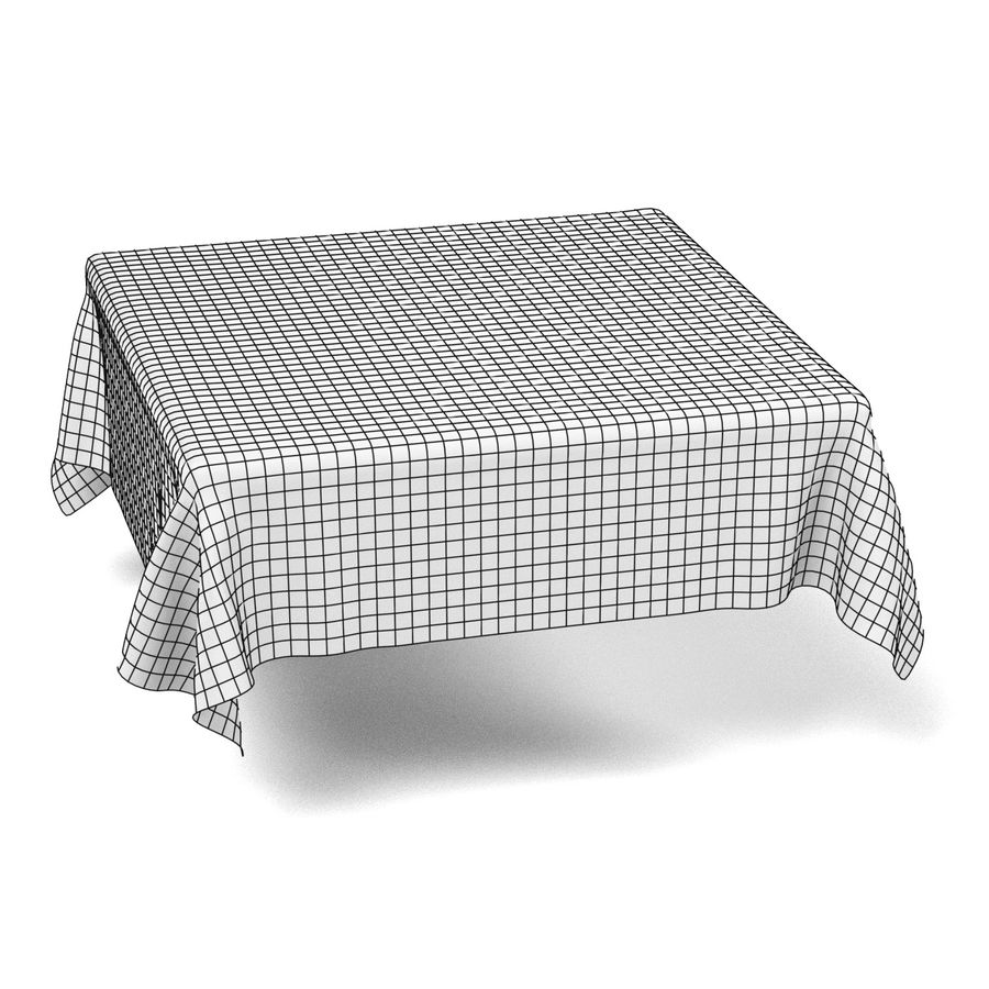 Tableclothes (Square) Set royalty-free 3d model - Preview no. 7