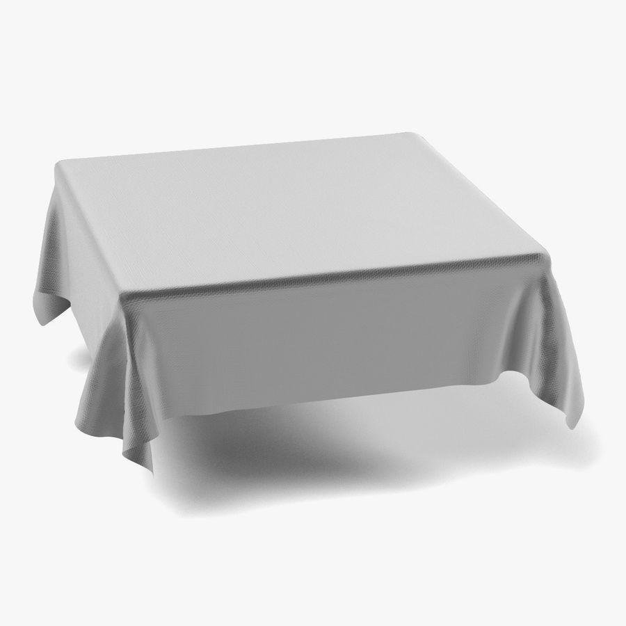 Tableclothes (Square) Set royalty-free 3d model - Preview no. 6