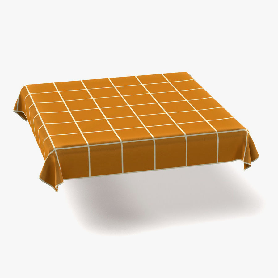 Tableclothes (Square) Set royalty-free 3d model - Preview no. 2