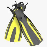 Modelo 3D amarelo das aletas oceânicas 3d model