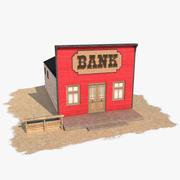 Western Building 6 Bank 3d model