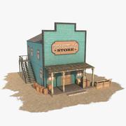 Western Building 4 Salesman 3d model