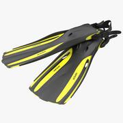Okyanus Viper Yüzgeçleri Sarı 3d model
