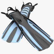 Okyanus Viper Yüzgeçleri Mavi 2 3d model