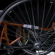 fauteuil roulant de sport 3d model