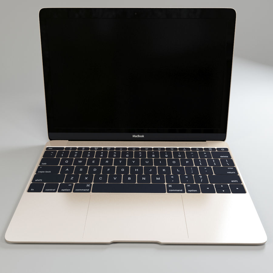 MacBook 2015 royalty-free modelo 3d - Preview no. 9
