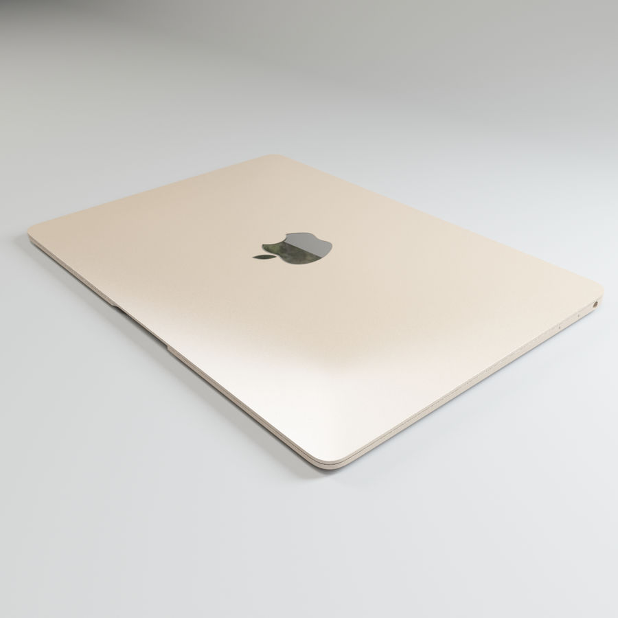 MacBook 2015 royalty-free modelo 3d - Preview no. 3
