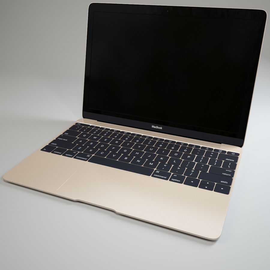 MacBook 2015 royalty-free modelo 3d - Preview no. 2