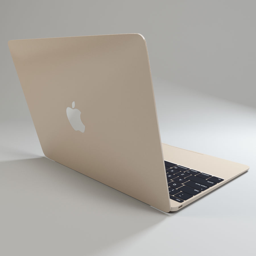 MacBook 2015 royalty-free modelo 3d - Preview no. 6