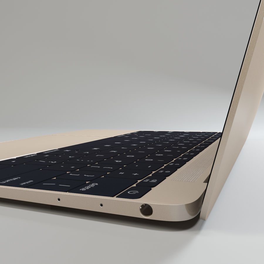 MacBook 2015 royalty-free modelo 3d - Preview no. 8
