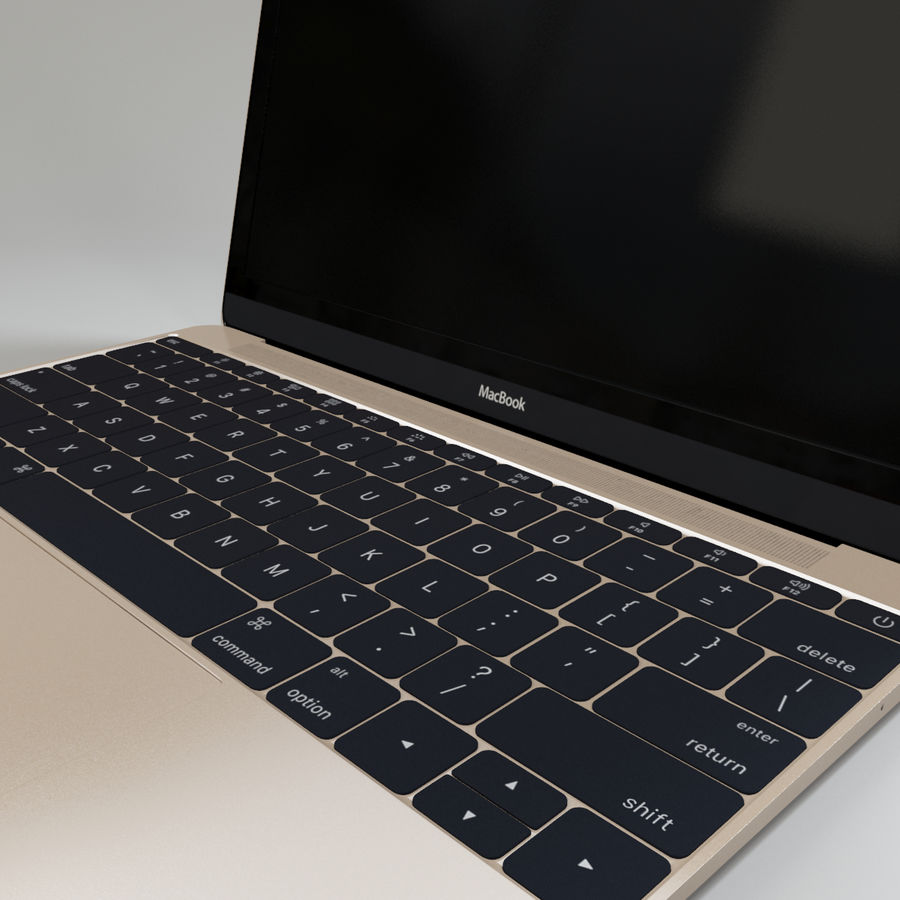 MacBook 2015 royalty-free modelo 3d - Preview no. 7