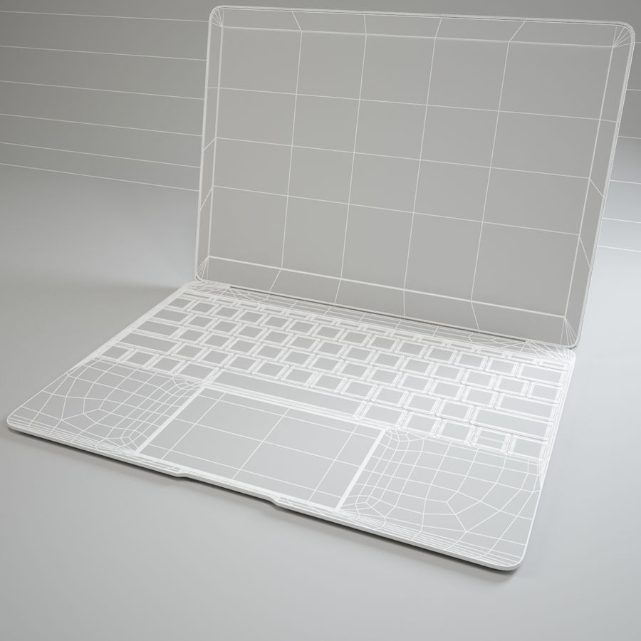 MacBook 2015 royalty-free modelo 3d - Preview no. 10