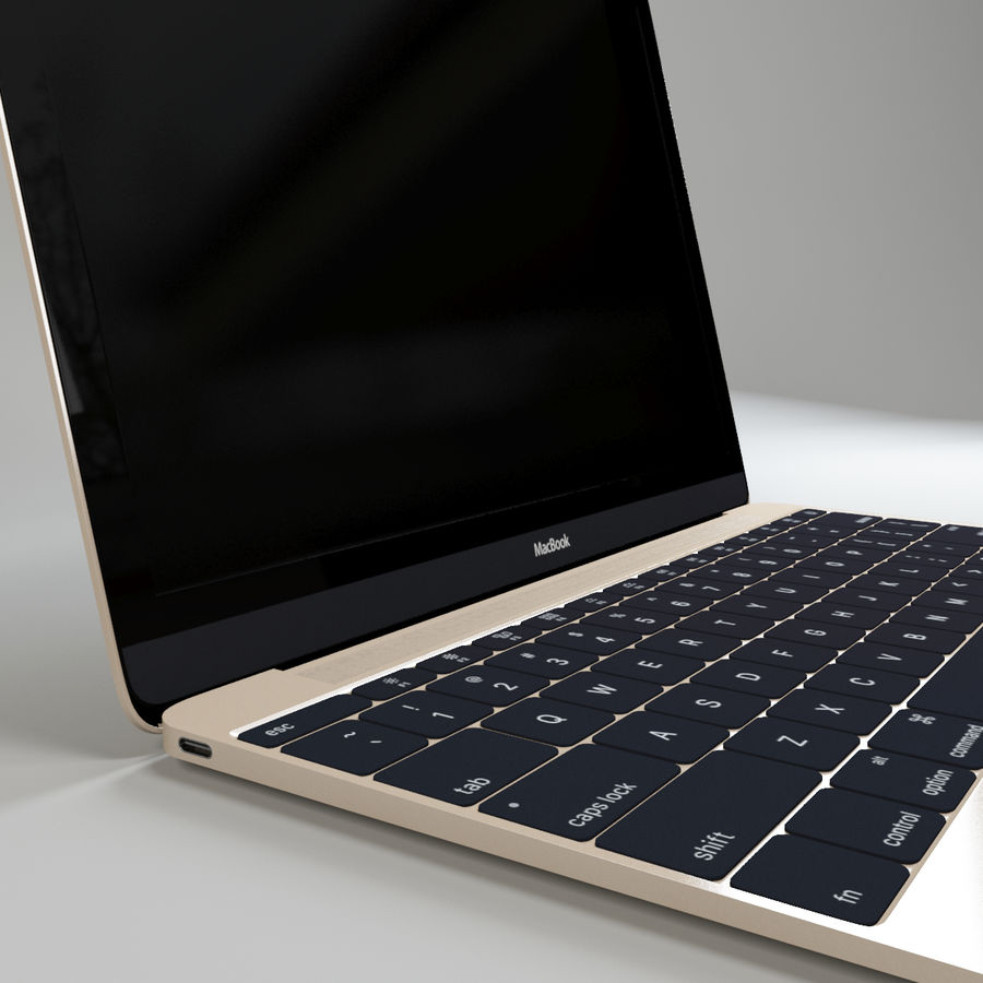 MacBook 2015 royalty-free modelo 3d - Preview no. 4