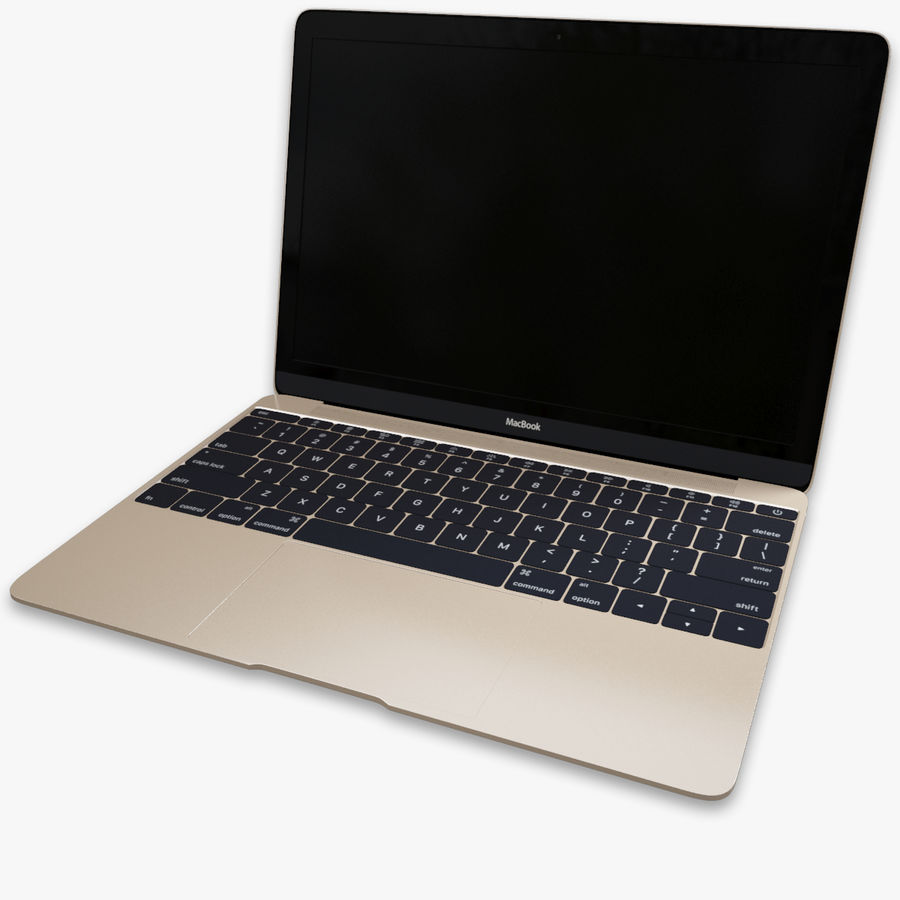 MacBook 2015 royalty-free modelo 3d - Preview no. 1