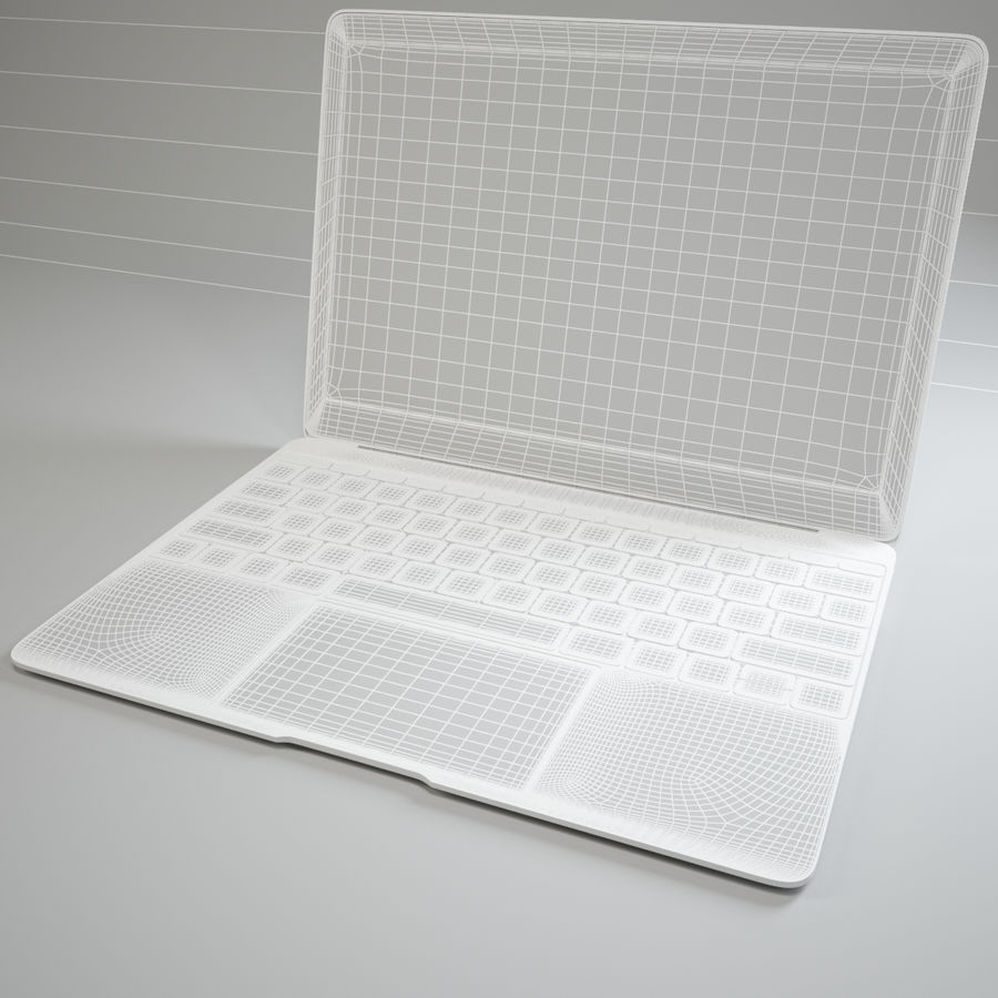 MacBook 2015 royalty-free modelo 3d - Preview no. 11