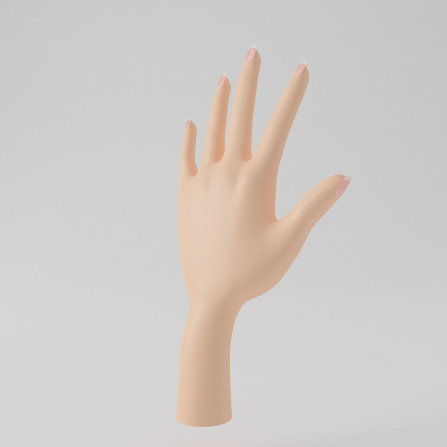 Cartoon Hand royalty-free 3d model - Preview no. 6