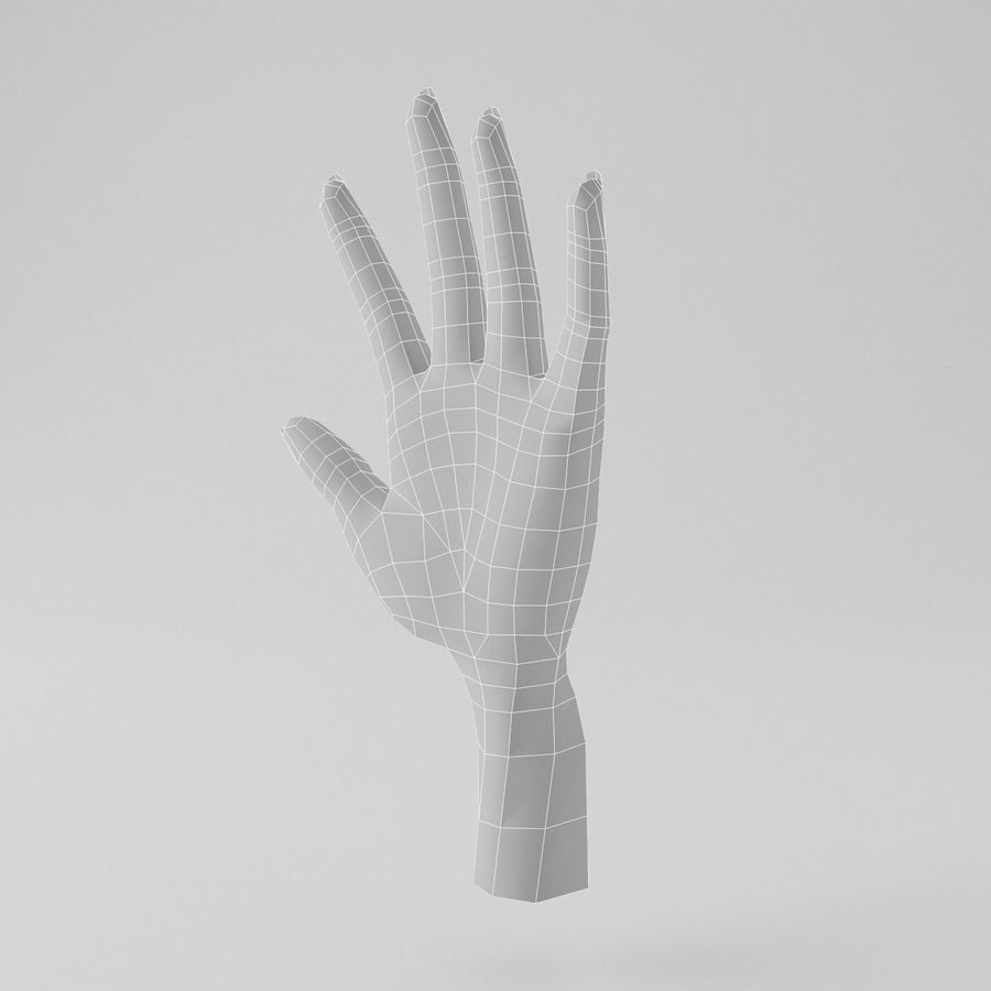 Cartoon Hand royalty-free 3d model - Preview no. 9