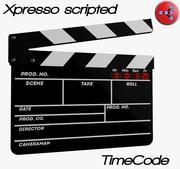 Cinema clapperboard 3d model