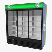 Sprite Three Door Display Refrigerator Modello 3D 3d model