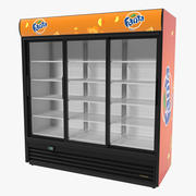 Fanta Display a tre porte Frigorifero modello 3D 3d model