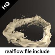 всплеск реального потока 3d model