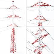 Electrical Power Line 3d model