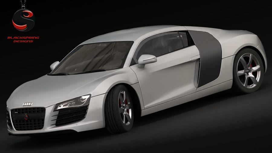 Audi R8 4.2 quattro 2007 royalty-free 3d model - Preview no. 1